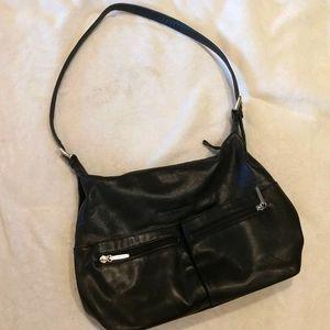 Stone Mountain black leather purse